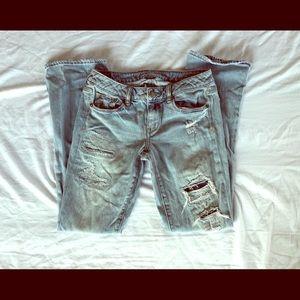 American Eagle size 4 skinny kick jeans